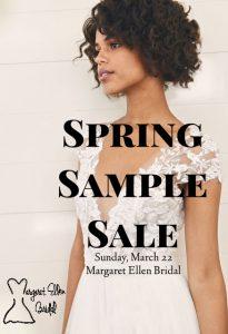 Spring Sample Sale @ Margaret Ellen Bridal