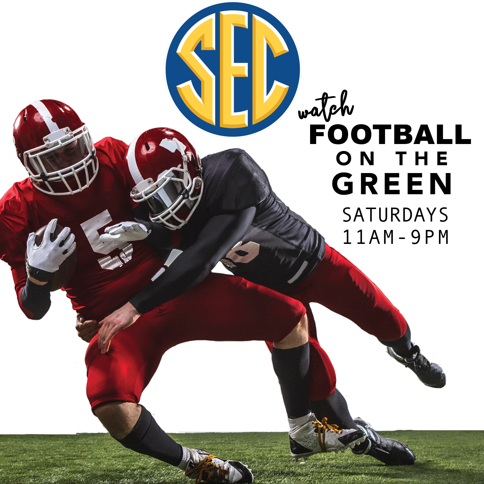 Catch SEC Football on the Green