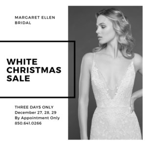 Margaret Ellen Bridal White Christmas Sale @ Margaret Ellen Bridal