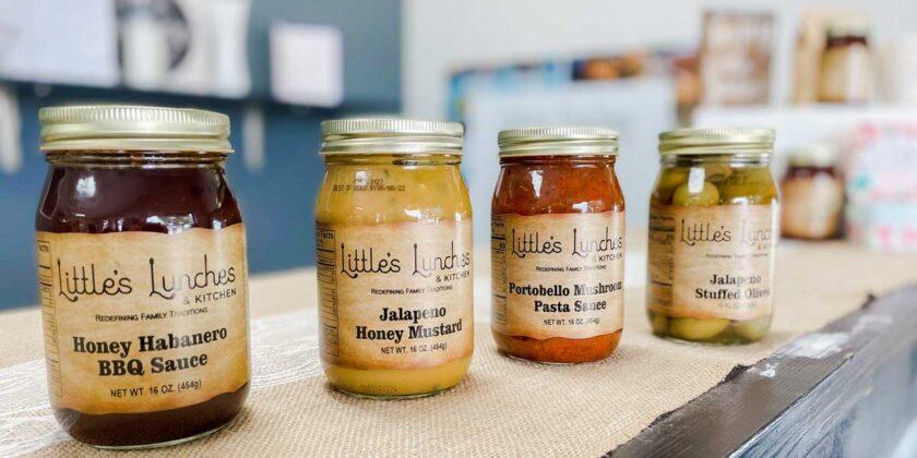 Jars of sauces